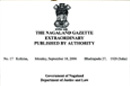 The Nagaland Government Gazette Extraordinary